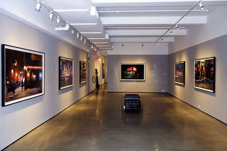 Davies at Bernarducci Meisel NYC, 2015 exhibit. Large Scale Photographs